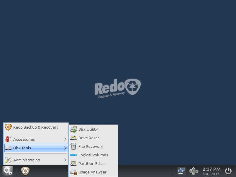 Redo- A simple live CD to Backup-Restore your computer