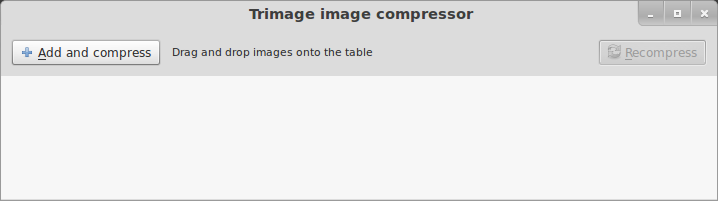 Trimage- A great application to compress and optimize images