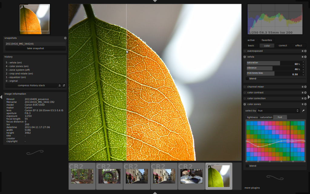 Darktable- An open source photography workflow application and RAW developer