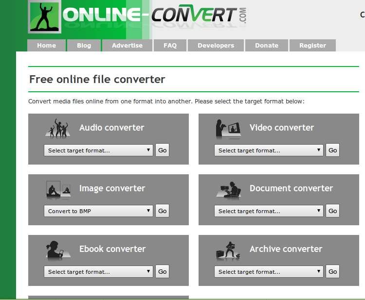 online-convert- A nice website to convert your files the easy way