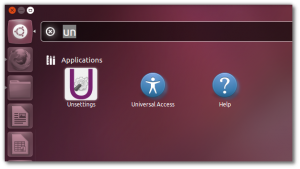 Unsettings- A graphical configuration tool for Unity | Ubuntu