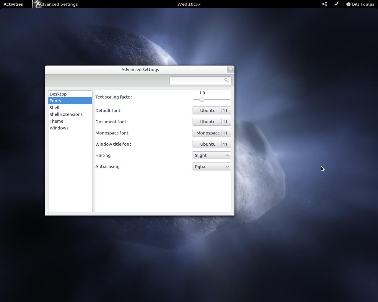 Настройка шрифтов в Fedora