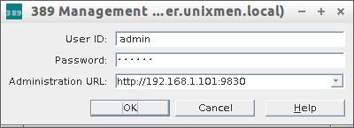 389 Management Console Login (server.unixmen.local)_001