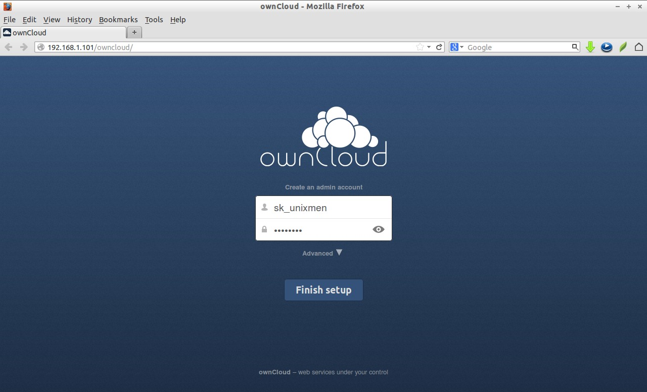 Install owncloud fedora 20 50