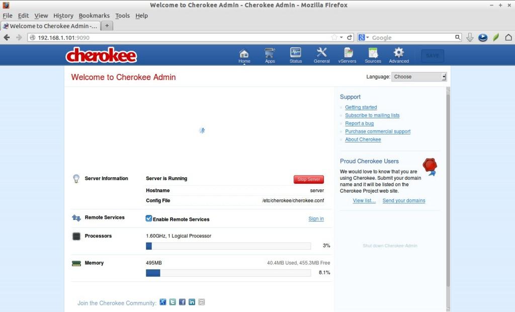 Welcome to Cherokee Admin - Cherokee Admin - Mozilla Firefox_003