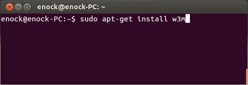 install-w3m