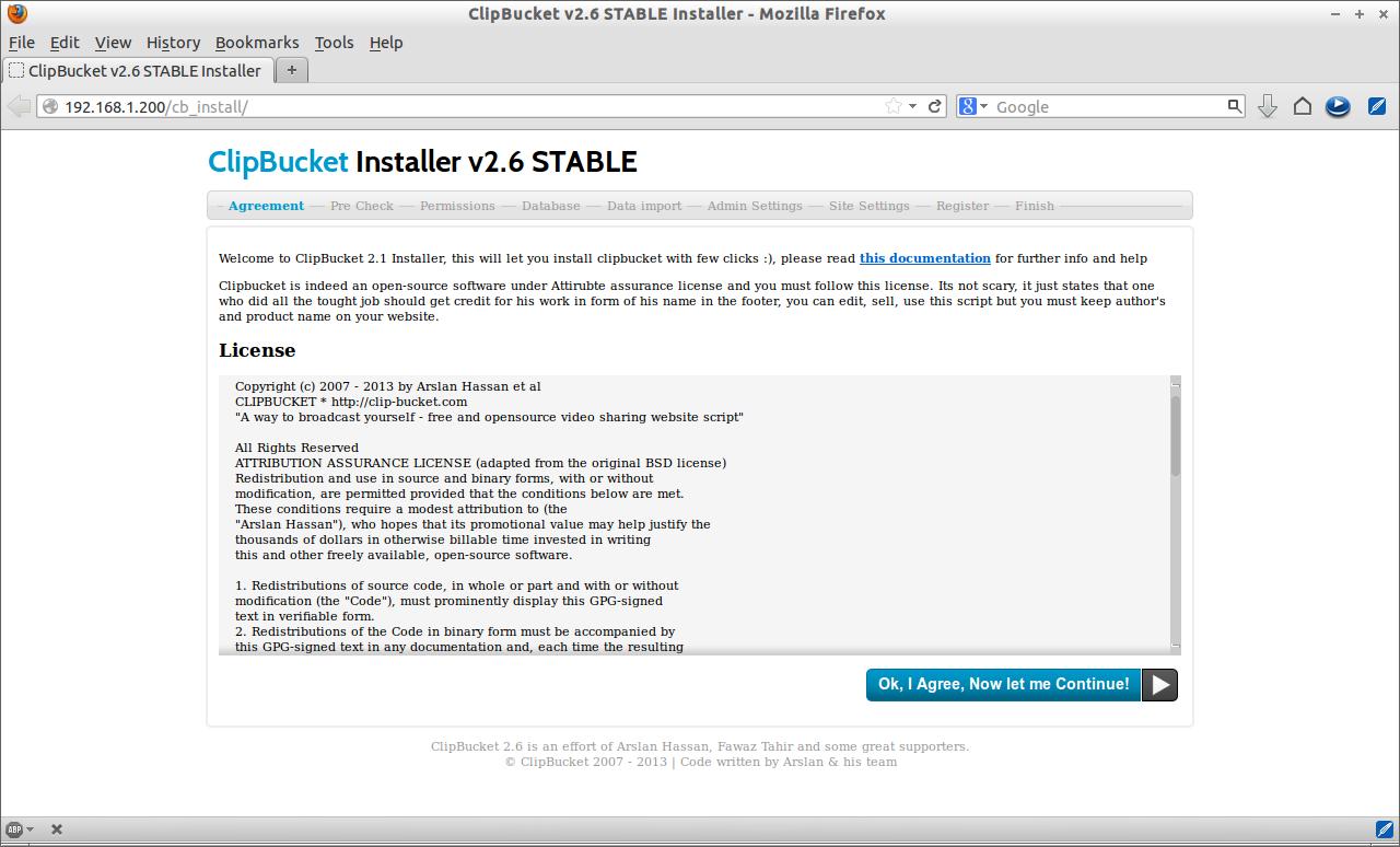 ClipBucket v2.6 STABLE Installer - Mozilla Firefox_001