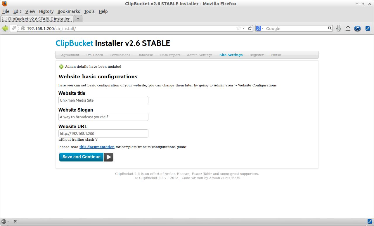 ClipBucket v2.6 STABLE Installer - Mozilla Firefox_006