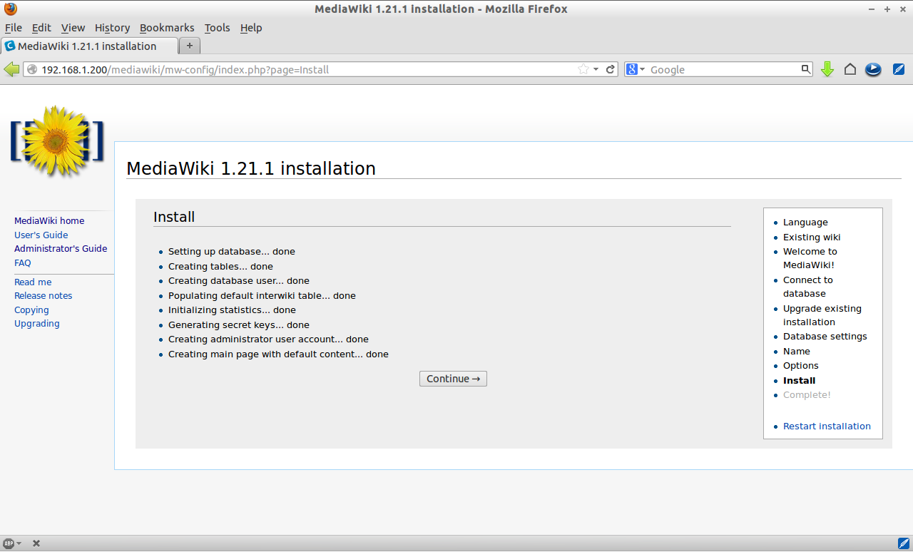 MediaWiki 1.21.1 installation - Mozilla Firefox_011