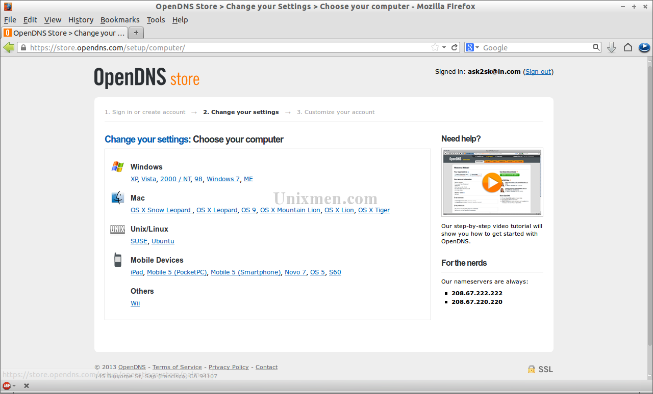OpenDNS Store - Change your Settings - Choose your computer - Mozilla Firefox_005