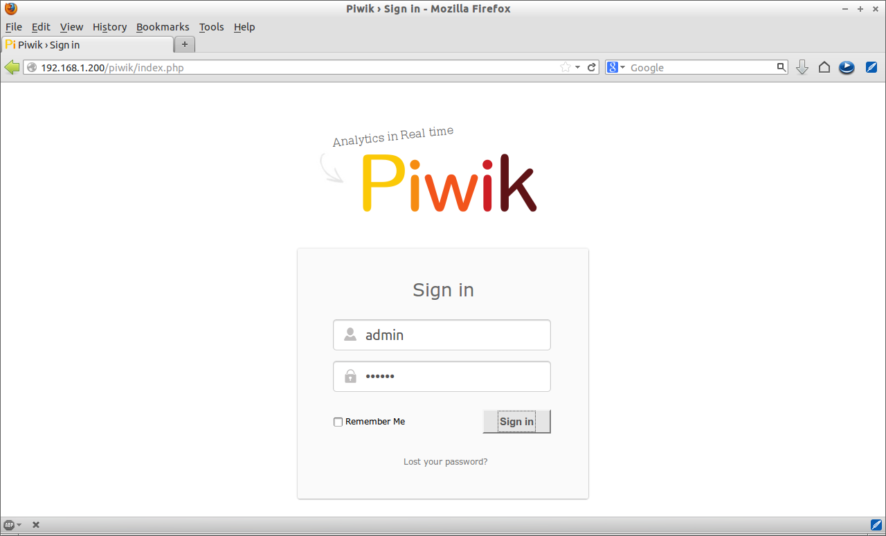 Piwik › Sign in - Mozilla Firefox_011