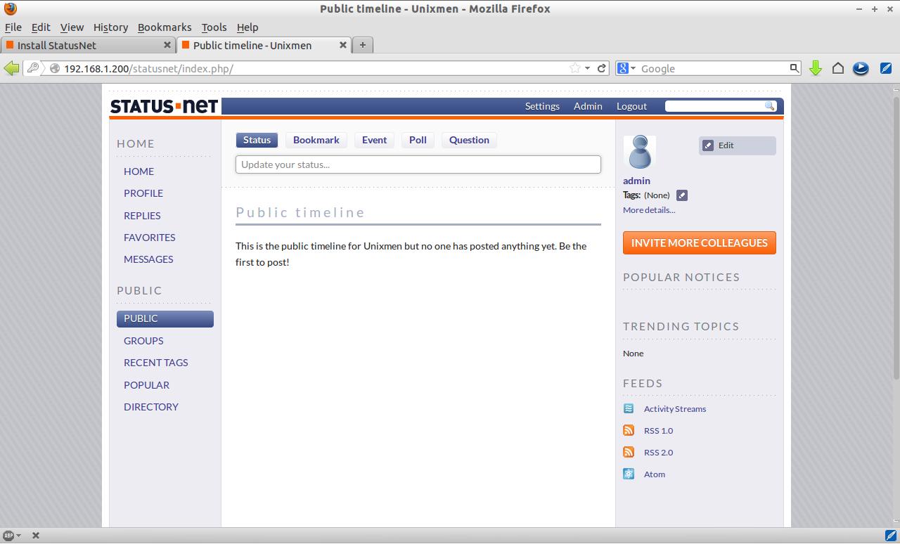 Public timeline - Unixmen - Mozilla Firefox_009