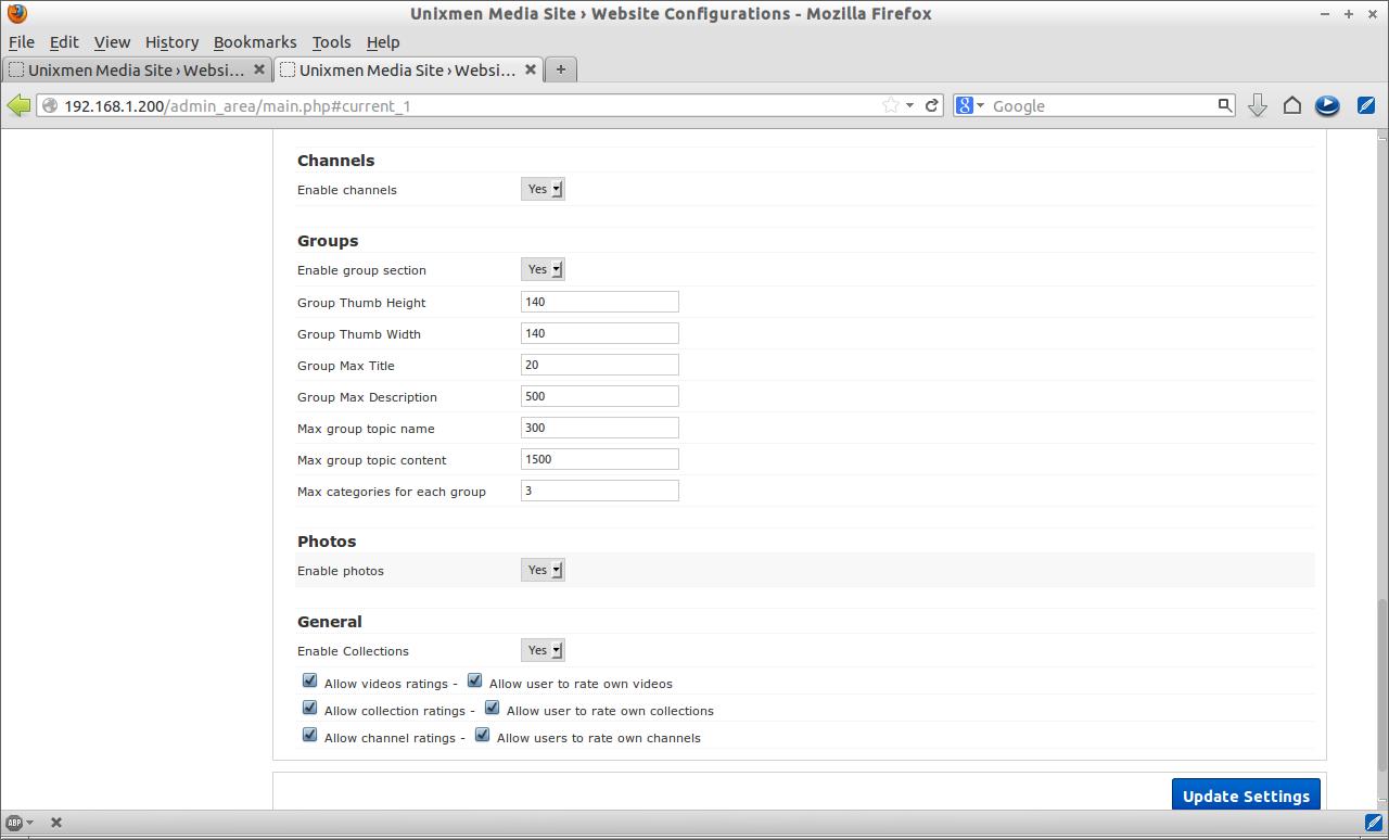 Unixmen Media Site › Website Configurations - Mozilla Firefox_022