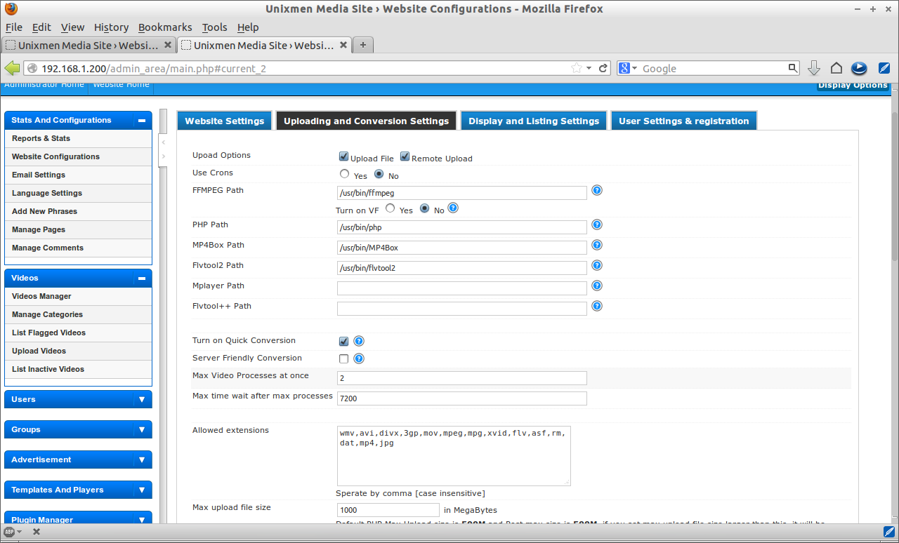Unixmen Media Site › Website Configurations - Mozilla Firefox_023
