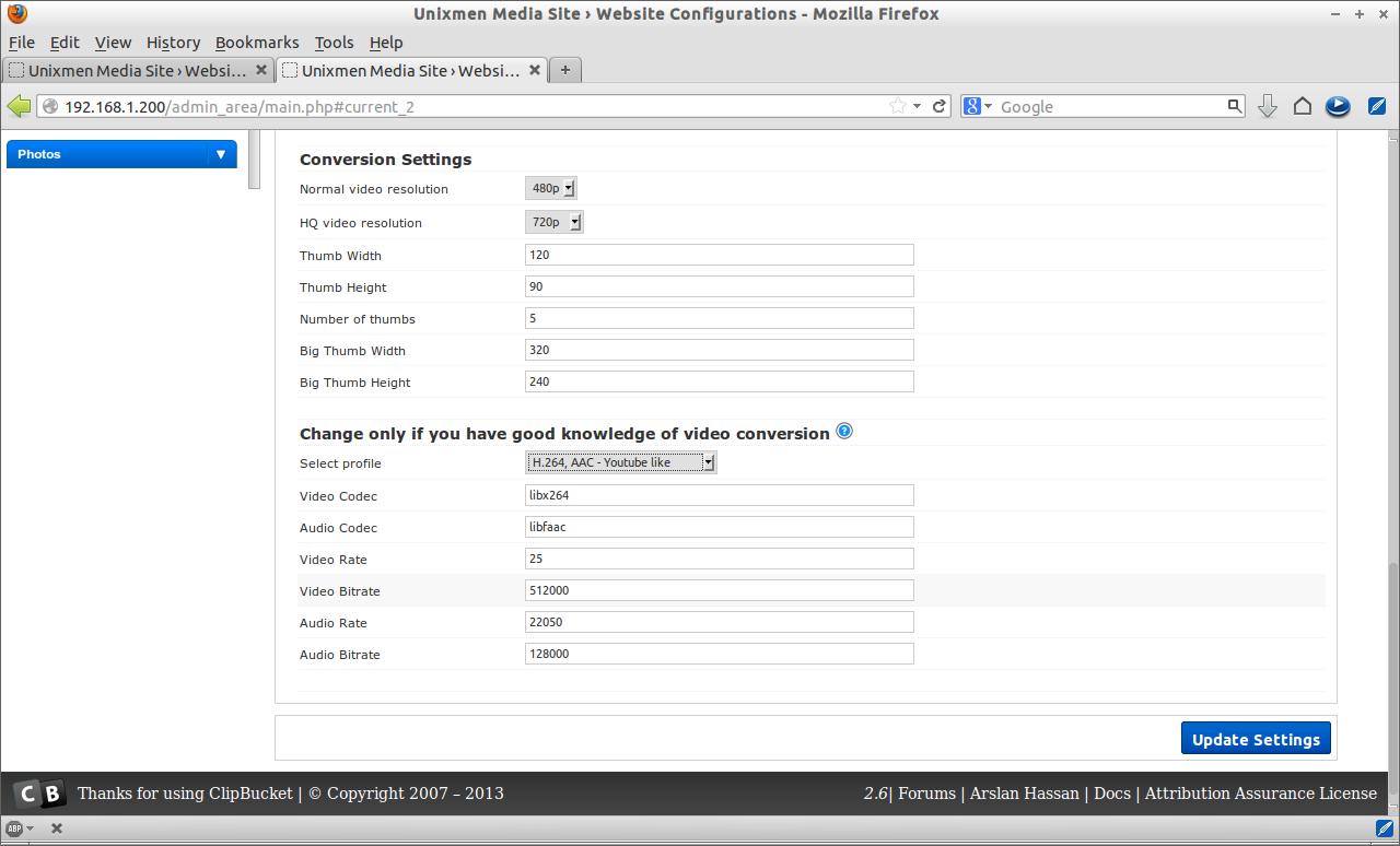 Unixmen Media Site › Website Configurations - Mozilla Firefox_025