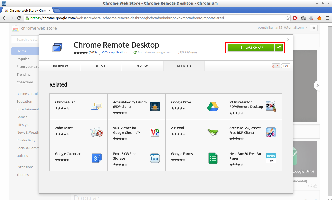 how to change account for chrome remote desktop