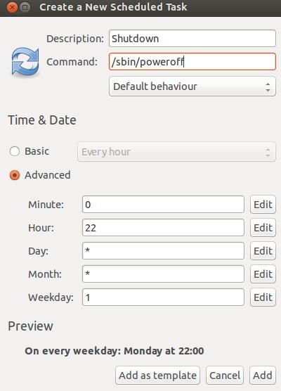 Gnome-schedule-poweroff