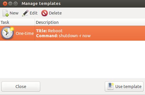 Gnome-schedule-template