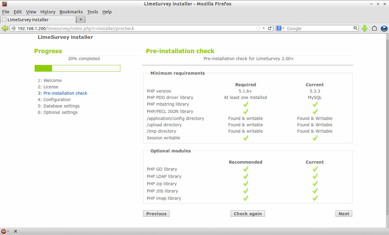 LimeSurvey installer - Mozilla Firefox_003