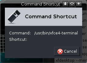 Command Shortcut Window