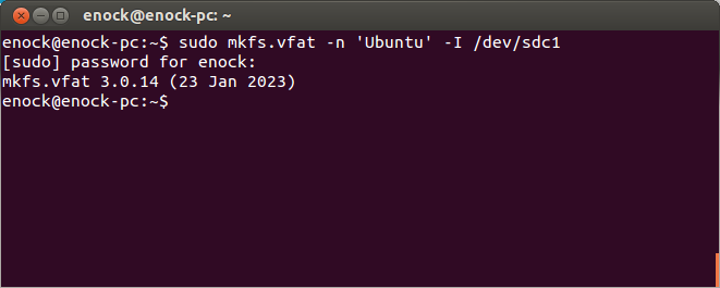 how to format a ubuntu hard drive