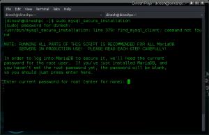MariaDB secure installation script