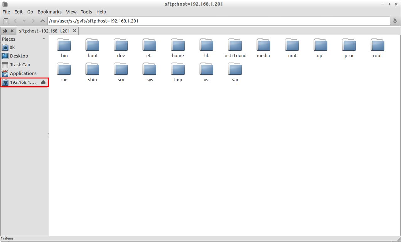 sftp:host=192.168.1.201_009