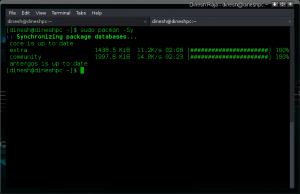 Synchronizing package databases