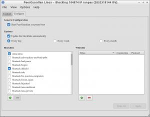 PeerGuardian Linux - Blocking 184874 IP ranges (2832318144 IPs)._001