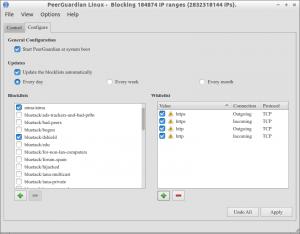 PeerGuardian Linux - Blocking 184874 IP ranges (2832318144 IPs)._003