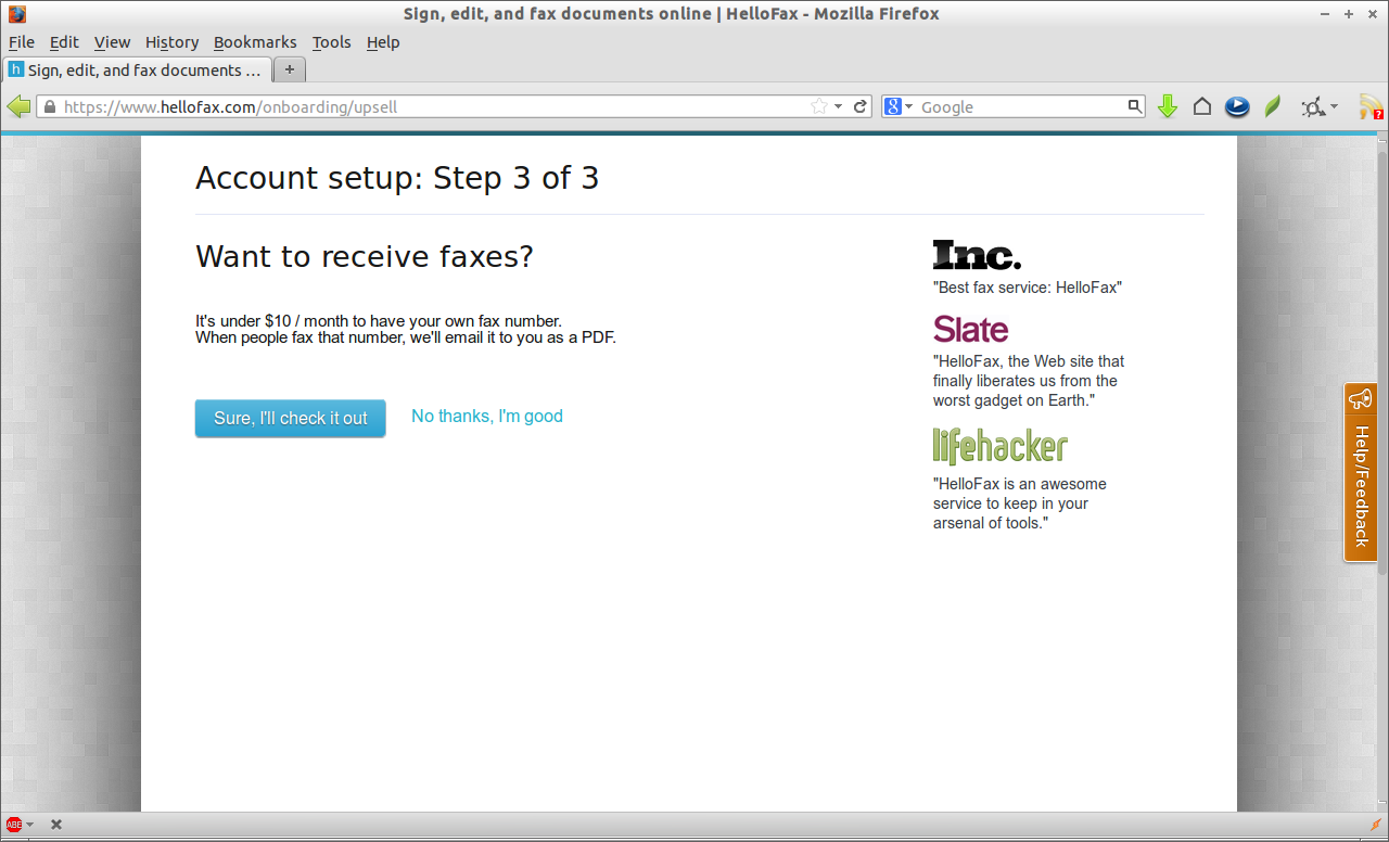 fax without fax machine free