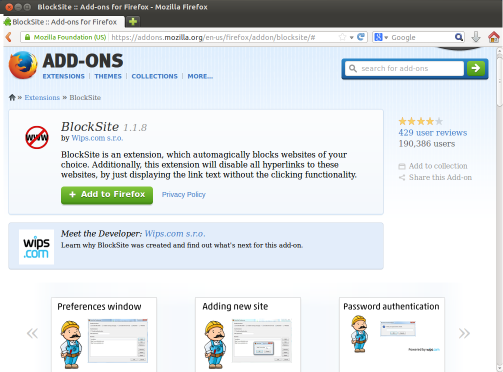 download free BlockSite For Firefox - asofttvsoft