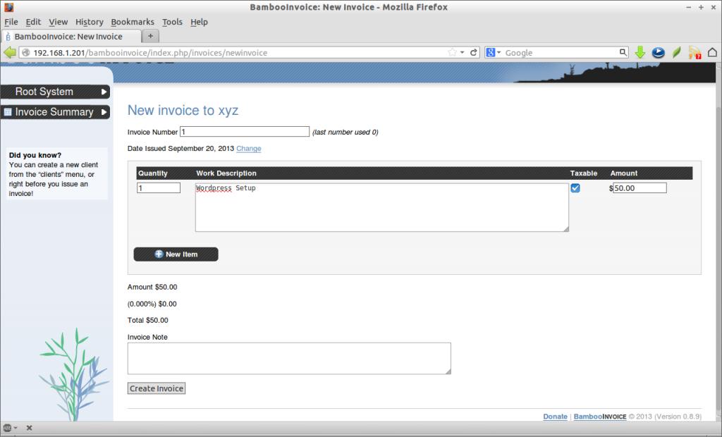BambooInvoice: New Invoice - Mozilla Firefox_010