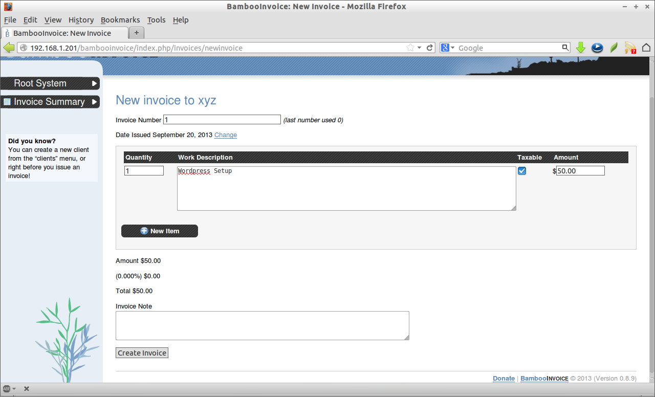 Bambooinvoice A Simple Opensource Online Invoicing Software Unixmen