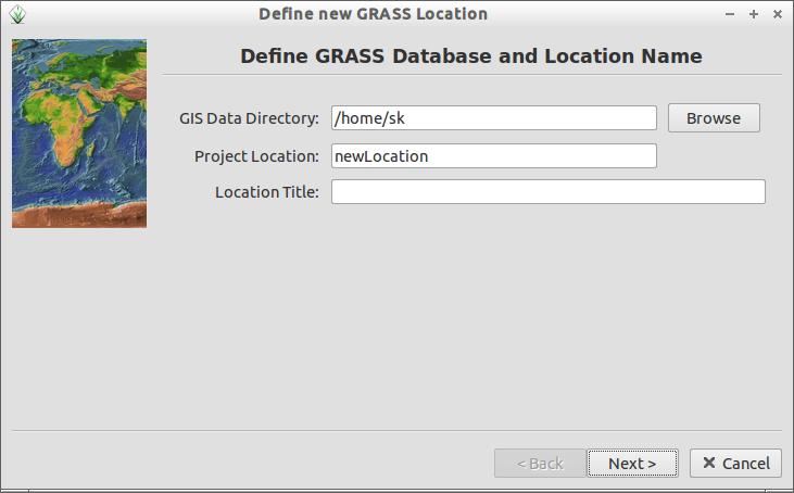 Define new GRASS Location_004