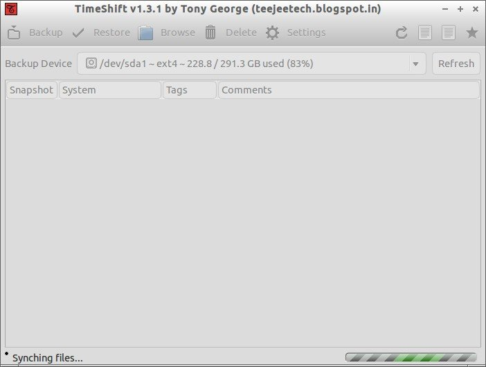 TimeShift v1.3.1 by Tony George (teejeetech.blogspot.in)_001