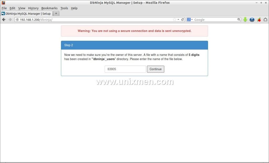 DbNinja MySQL Manager | Setup - Mozilla Firefox_002