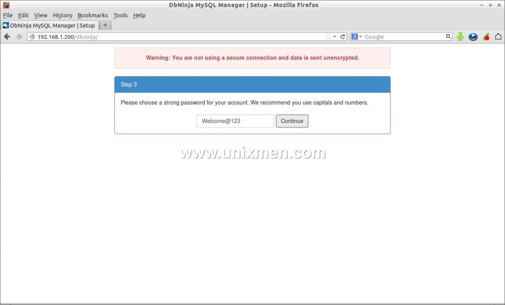 DbNinja MySQL Manager | Setup - Mozilla Firefox_003