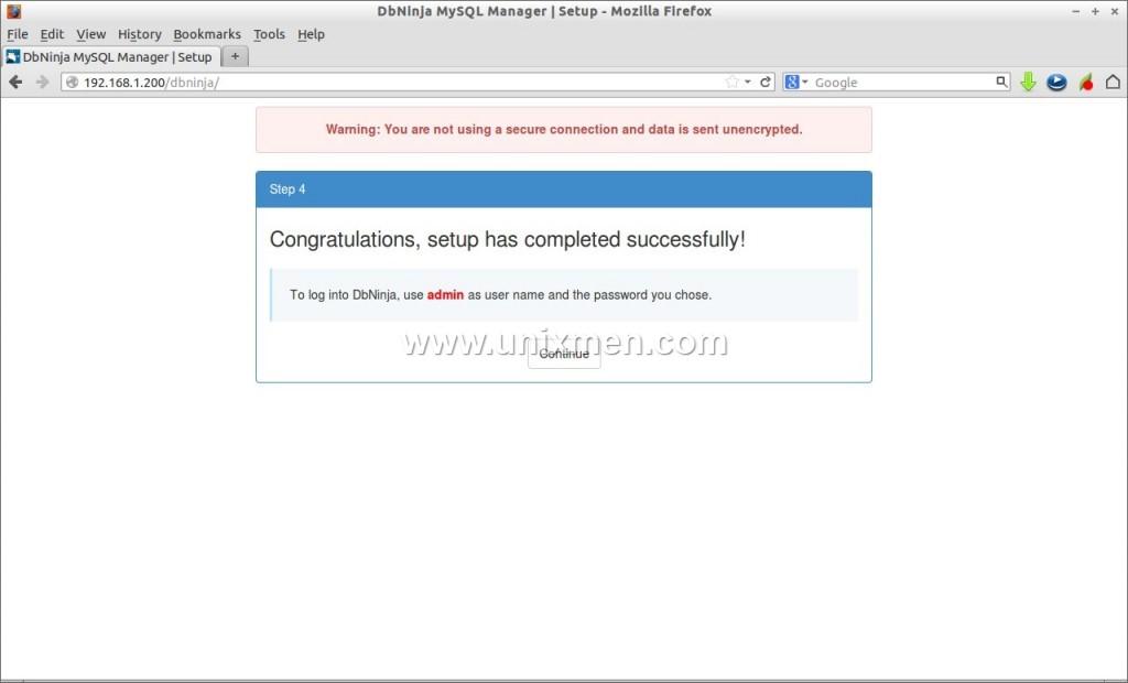 DbNinja MySQL Manager | Setup - Mozilla Firefox_004