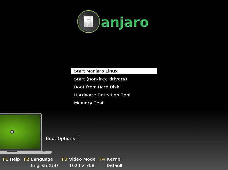 Manjaro_Start