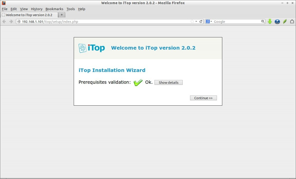 Welcome to iTop version 2.0.2 - Mozilla Firefox_001