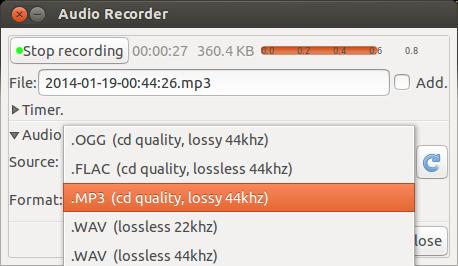 audio recoder formats