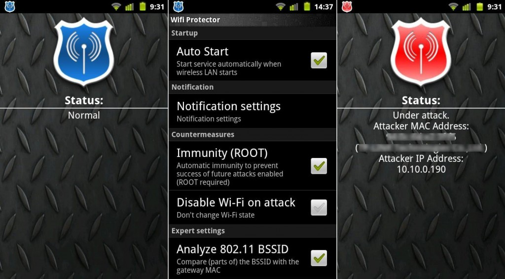 WiFi Protector - Android app