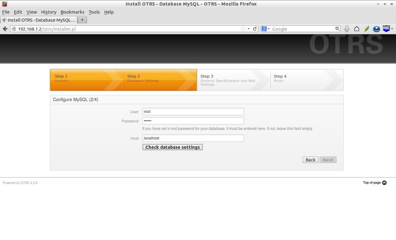 Install OTRS - Database MySQL - OTRS - Mozilla Firefox_005