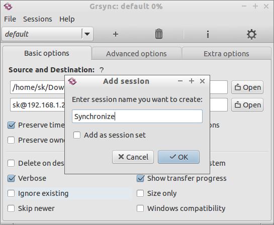 Grsync: default 0-_012