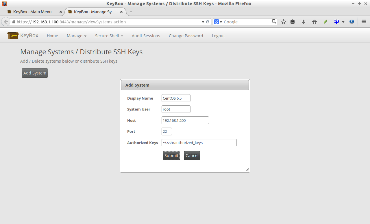 KeyBox - Manage Systems - Distribute SSH Keys - Mozilla Firefox_005