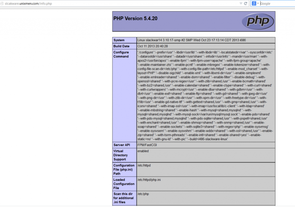 php-slackware