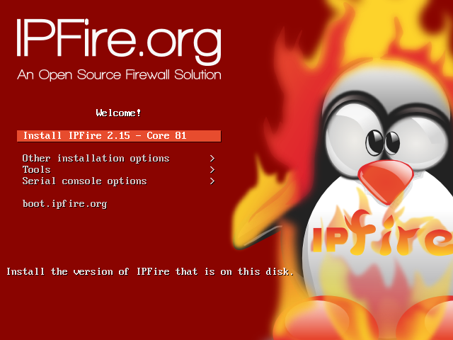 IPFire [Running] - Oracle VM VirtualBox_001