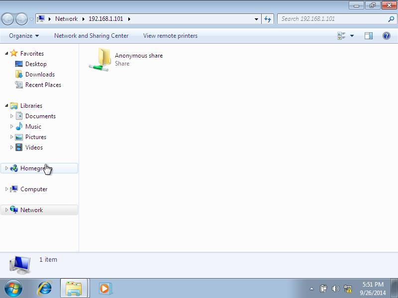 Windows 7, 1 nic, bridge, internet [Running] - Oracle VM VirtualBox_002