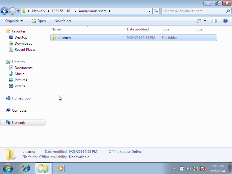 Windows 7, 1 nic, bridge, internet [Running] - Oracle VM VirtualBox_003